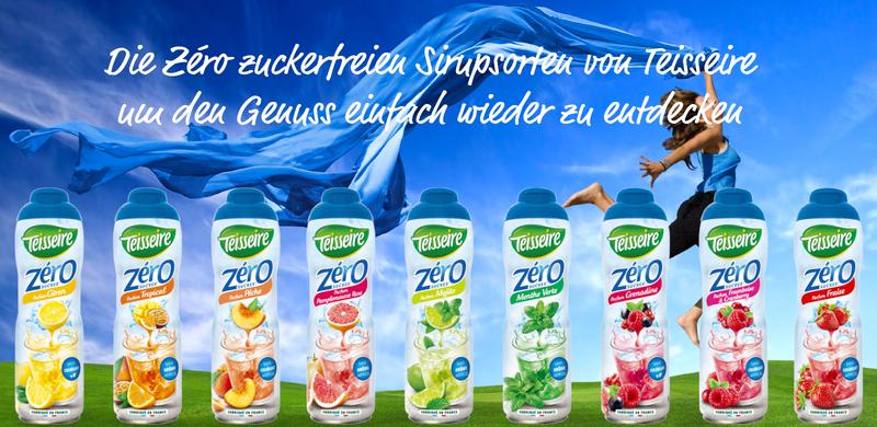 Die Zéro zuckerfreien Sirupsorten von Teisseire um den Genuss einfach wieder zu entdecken